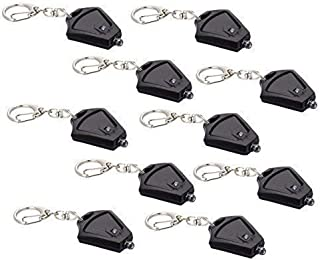 Finware 10 Pack Micro Light LED Keychain Mini Flashlight, Ultra Bright Key Ring Light Torch, Batteries Included