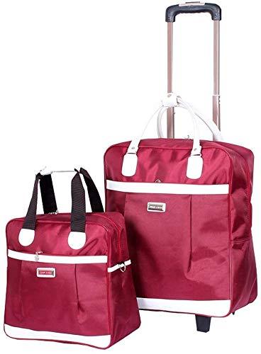 Bruikbare reistas voor kinderbagage met twee zakken, artikel voor het opbergen van de tas - opvouwbare boot (kleur: violet) (kleur: violet)