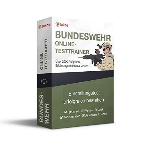Bundeswehr Online-Testtrainer: authentische Übungsaufgaben + Lösungen | Tests zu den Bereichen Sprache, Wissen, Logik und Konzentration | Vorbereitung + Erfahrungsberichte von Bewerbern