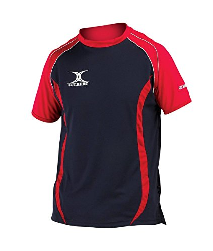 Gilbert Performance Junior Rugby T-Shirt, Marineblau, Kinder M
