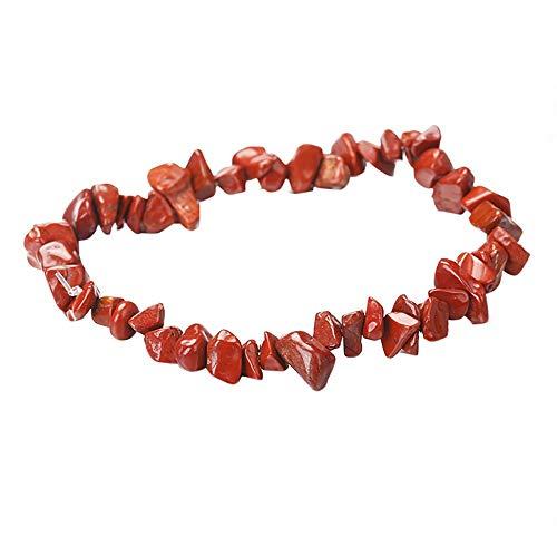 OPAKY Pulsera Elástica Hecha a Mano de 5-8 mm Mezclada con Cuentas de Piedras Preciosas Naturales Reiki Pulsera de Mujer Ajustable Regalo Ideal el día de San Valentín
