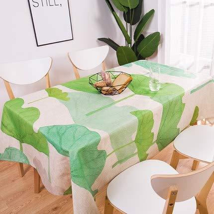 XXDD Pastoral Style Dekorative Tropische Pflanzenblätter Tischdecke Baumwolltischdecke Esstischabdeckung für Küchendekor A7 150x210cm
