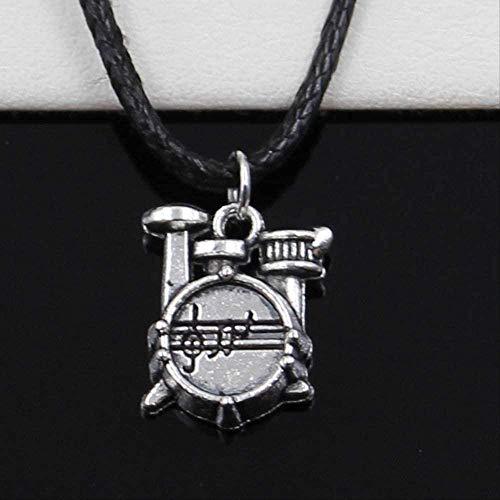 ZHIFUBA Co.,Ltd Collar Colgante Cronómetro Reloj Conjunto de batería Collar Gargantilla Cordón de Cuero Negro Precio de fábrica Joyería Hecha a Mano Regalo para Mujeres