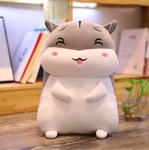 XXCKA Oreiller gris Rire Hamster Poupée en Peluche Jouet Lit Poupée Poupée Anniversaire Cadeau 60Cm