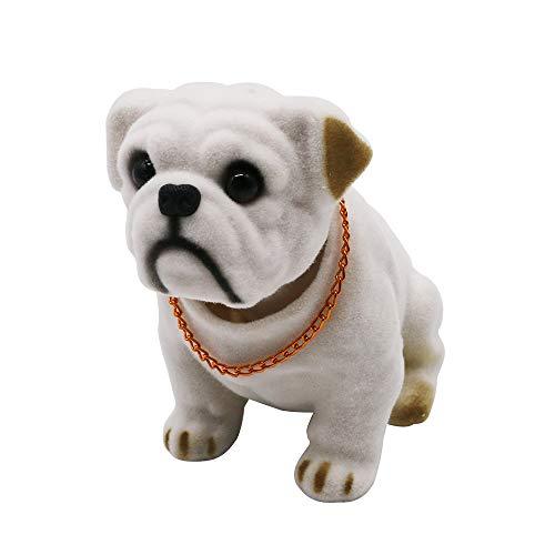 Mary Paxton Bobble Head,Car Decoration Nodding Dog Ornaments High Emulation Creative Dog Dashboard Crafts Dog Lover Gift for Car Vehicle Desk Tabletop Office Decor Baby Kids Toy (Bulldog)