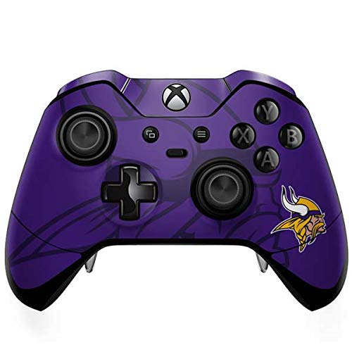 Skinit Decal Gaming Skin for Xbox One Elite Controller - Officially Licensed NFL Minnesota Vikings Double Vision Design