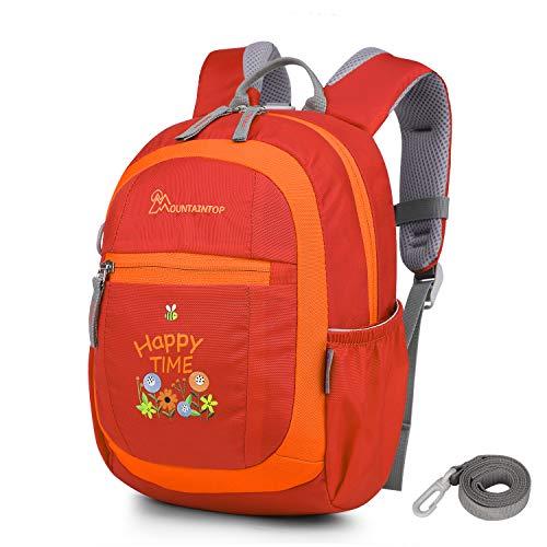 MOUNTAINTOP Mini Backpack Kinder Kleinkind Rucksack mit Anti-verlorene Bügel,Brustgurt,Namensschild für Baby Kleinkinder, 24 x 9.5 x 31CM