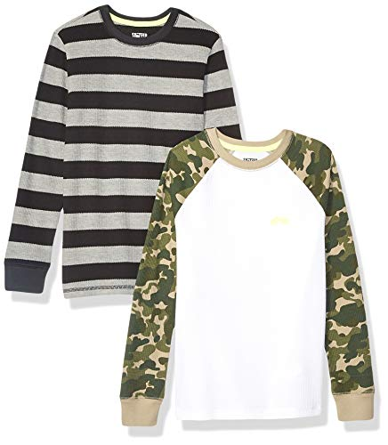 Spotted Zebra 2-Pack Long-Sleeve Thermal Tops fashion-t-shirts, camouflage, 4T