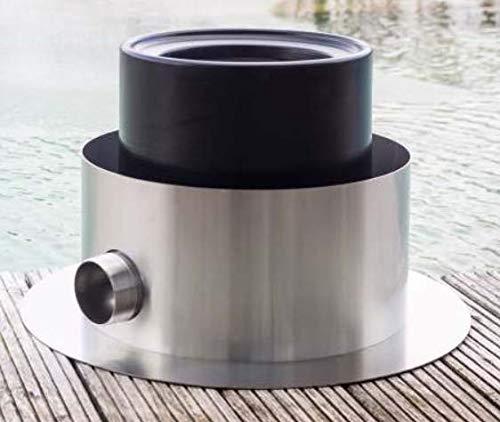 VERGEO Skimmer Skim400s / VA Edelstahl - Skimmer Oberflächenskimmer Teichskimmer Schwimmteich