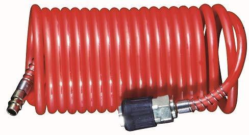 ROWI Druckluft-Spiralschlauch passend für Druckluftwerkzeuge und Kompressoren 8/6/1; DSS 8/6/1