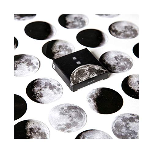 AIUIN 45x Ephemera Set Notizsticker Aufkleber Japan Mädchen/Junge Sticker für Kinder Deko Sticker (Mondphase)
