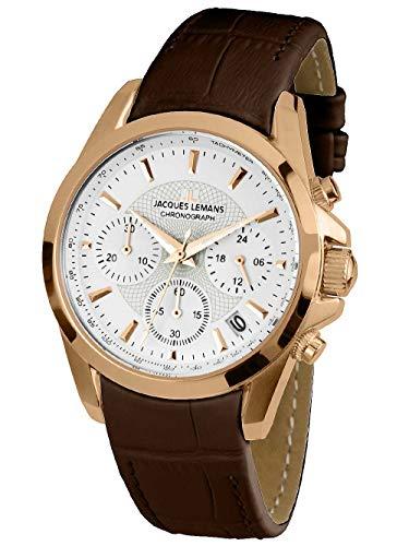 Jacques Lemans Liverpool–Reloj de Pulsera analógico para Mujer Cuarzo Piel 1–1752i