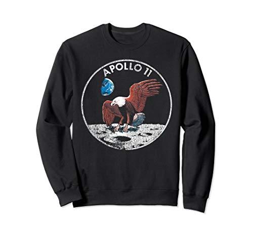 NASA Apollo 11 Vintage Eagle Emblem Graphic Sweatshirt