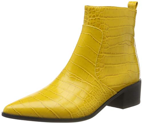 Buffalo Damen Fiona Stiefeletten, Gelb (Mustard Croco 001), 39 EU