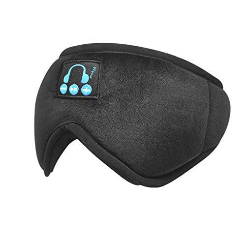 Xniral Schlafbrille Smart Wireless Musik Goggles Nap Brille Bluetooth Schlaf Augenbinde(Dunkelgrau)
