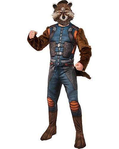 Rocket Raccoon Deluxe GOTG 2 Kostüm für Erwachsene Herren