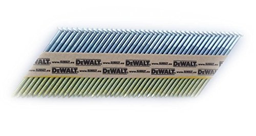 DeWalt 34 Grad Nagel (für Akku-Nagler, D-Kopf-Nägel, drahtgebunden 2,8 x 63 mm Ringschaft, 2200 Stück) DNW28R63E