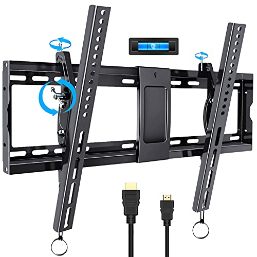 TV Mount, 32-86 Inch TV Wall Mount for Most Flat Screen LED LCD Plasma TVs, Tilt Wall Mount TV Bracket Holds up to 165 lbs VESA 600x400mm Level and Tilt Adjust Easily by BLUE STONE