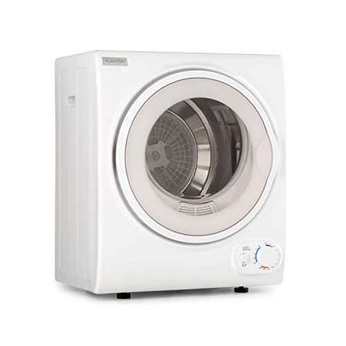 Klarstein Jet Set 2500 - Secadora de ropa, Carga frontal, Potencia 850 W, Independiente, EEC C, 2,5 kg, Resistencia de PTC, Calor hasta 60 °C, Programable de 20 a 200 minutos, Compacta, Blanco
