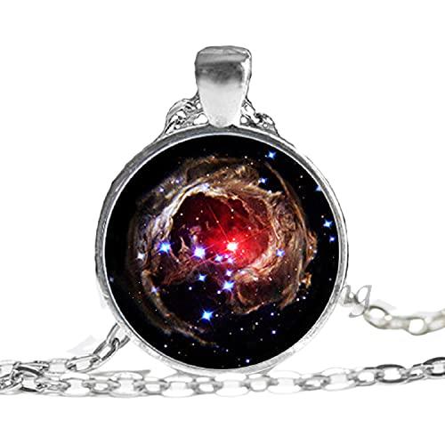 Collar de la galaxia de la joyería de la nebulosa del universo de Orion regalos para los hombres arte foto cristal cabujón collares nebulosa galaxia