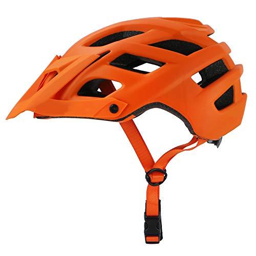 AMYHY Casco de Ciclismo Unisex con Visera Desmontable, Casco de Bicicleta de montaña, Casco Protector de Seguridad para Hombres/Mujeres Adultos, 22 Cascos de Ciclismo Ligeros de ventilación, 56-62cm