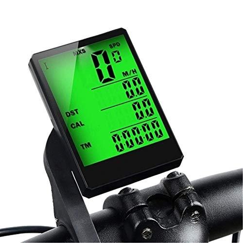 Odómetro de bicicleta de 2,8 pulgadas Computadora inalámbrica de la bici multifunción Impermeable a prueba de lluvia Bicicleta Odómetro Ciclismo Velocímetro Cronómetro Retroiluminación Exhibición ODME