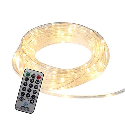 Northpoint LED Lichtschlauch Lichterkette 12m IP44 Warmweiß und RGB Tube-Light 240 LEDs Fernbedienung