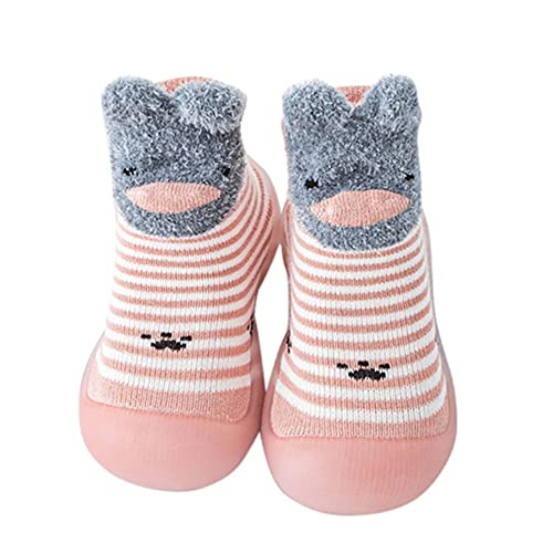 KLGR Kinderschuhe 20 Mädchen Lauflernschuhe Baby Krabbelschuhe Jungen Kleinkind Schuhe Indoor Babyschuhe Weicher Boden Sockenschuhe Cute Kleiner Bär Bodensocken Rutschfest Baby schuhe