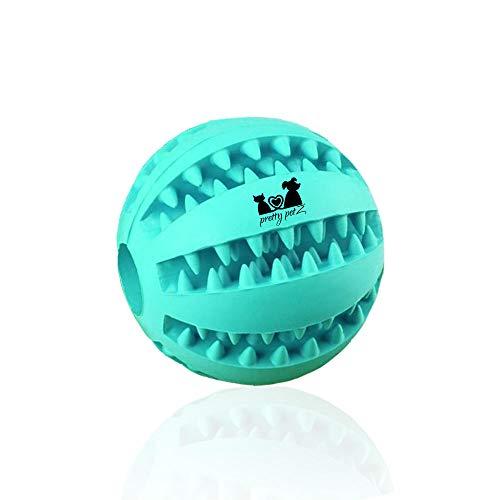 pretty petZ Hundeball mit Zahnpflege-Funktion Noppen aus Naturkautschuk   Robuster Hunde Ball Ø 7cm   Hundespielball für Große & Kleine Hunde   Kauspielzeug aus Naturgummi für Leckerli