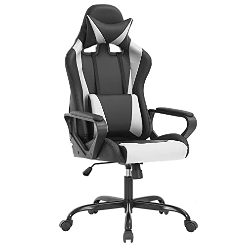 Ergonomic Office Chair PC Gaming Chair Cheap Desk Chair PU Leather Racing Chair...
