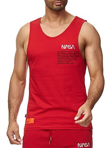 Red Bridge Herren Tank Top T-Shirt NASA Logo USA Ärmellos Baumwolle M1835 Rot M