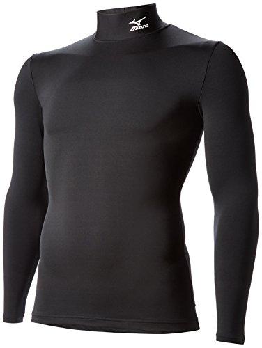 (ミズノ) Mizuno バイオギアシャツ(ハイネック長袖) A60BS250 A60BS250 09 ブラック×ホワイト L