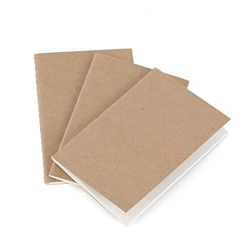 Reise Taschennotizbuch Nachfüllblätter -Blanko Papier - 3er Set | Reisepass Journalgröße | für kleine auffüllbare Reisejournale, Tagebücher und Notizbücher | Travel Journal Inserts | 12,5 x 9 cm B7