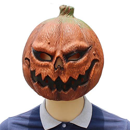 DUBAOBAO Grappige Halloween pompoen hoofd masker horror masker latex masker dans jurk prestaties rekwisieten ornamenten cos