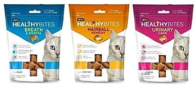 *new* Vetiq 3 Pack Mixed Healthy Bites Cat Kitten Treats Hairball Urinary Care