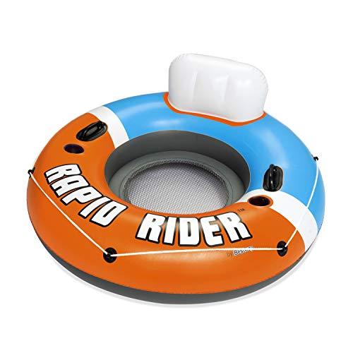 Bestway 43116 - Flotador Hinchable con Respaldo Rapid Rider 135 cm