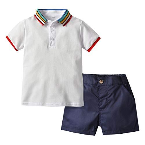 sunnymi  - Polo para bebés de 0 a 4 años, diseño de arcoíris Blanco 18-24 Meses