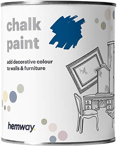Hemway - Kreidefarbe für Möbel & Wände - matt - renoviert - 1 Liter - Königsblau