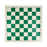Andux Juego de ajedrez Tablero de ajedrez Rollable XQQP-01 (Verde, 43*43cm)