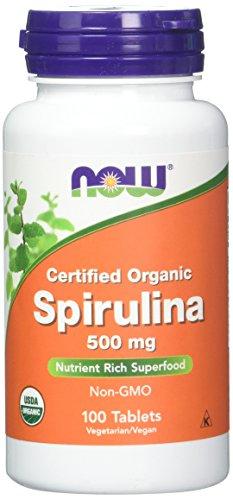 Now Foods Organic Spirulina Tablets, 100 Tablets