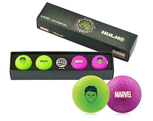 Volvik Vivid Marvel Golfbälle, 4 Stück