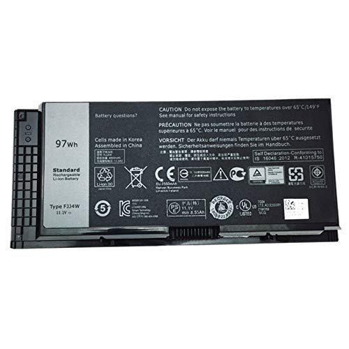 Szhyon Fit for 11.1V 97Wh Laptop Battery FV993 T3NT1 Fit for Dell Precision M4600 M4700 M6600 M6700 PG6RC R7PND 0TN1K5 FV993