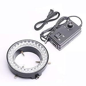 DEVMO 60-LED Adjustable Ring Light Illuminator Lamp for Stereo Zoom Microscope