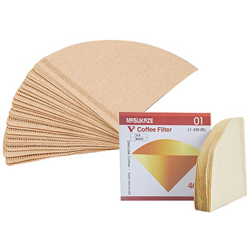 Sipliv 80 piezas papel cónico filtro de café filtro de café desechable café natural sin blanquear bolsas de té cafeteras de viaje - tamaño 02, 2-4 tazas