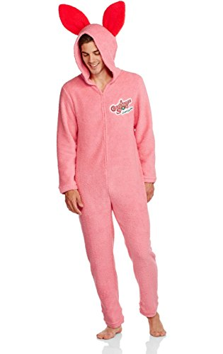 A Christmas Story Mens Pink Bunny Union Suit Pajama (Large)