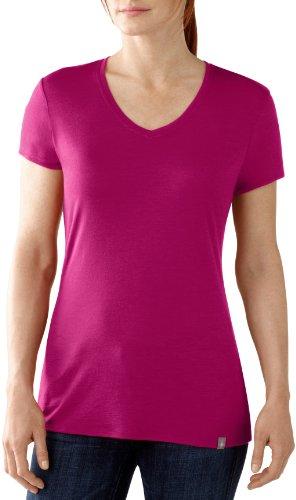 Smartwool T-shirt à manches courtes et col en V pour femme Violet baie 40