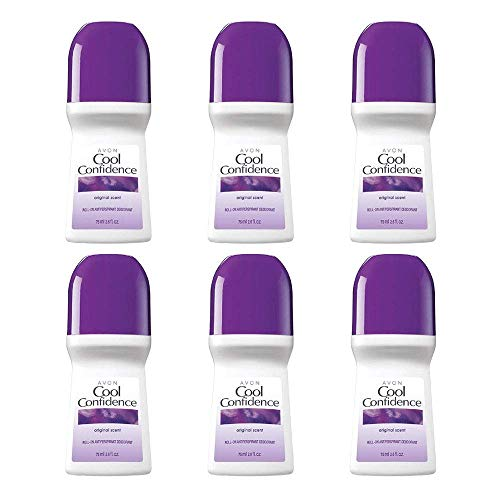 Avon~ COOL CONFIDENCE ~Deodorant Antiperspirant Roll On Original Scent (6 Pack).. HPVagr