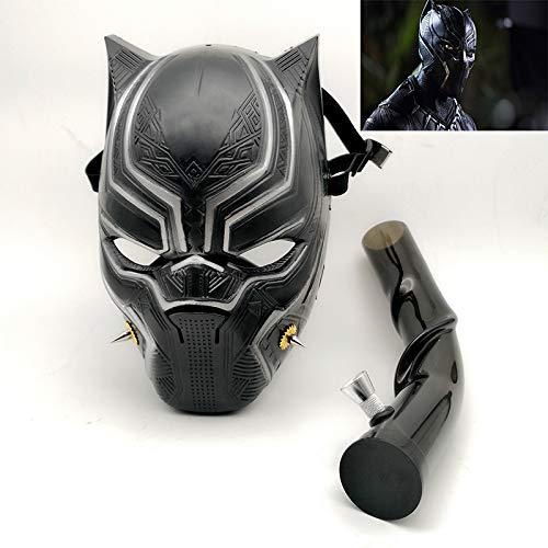 Máscara de gas para pipa de agua y tabaco, para fiesta, disfraz de Pantera Negra