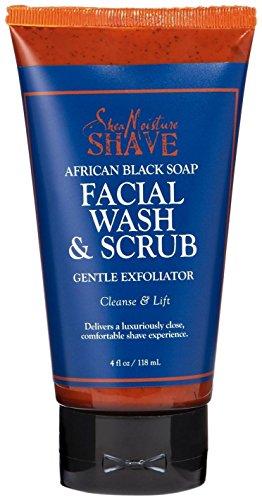 SheaMoisture African Black Soap Facial Wash & Scrub - 4 oz