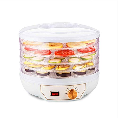 Fantastic Deal! ZOUQILAI 5-Tray Countertop Portable Electric Food Fruit Dehydrator Machine with Adju...
